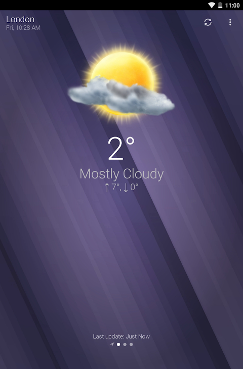 Android Weather Screen 7