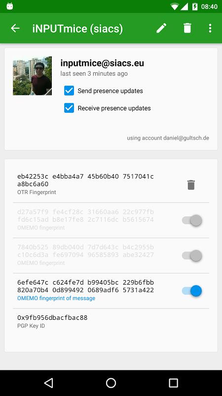 Conversations (Jabber / XMPP) 1.23.3 Screen 7