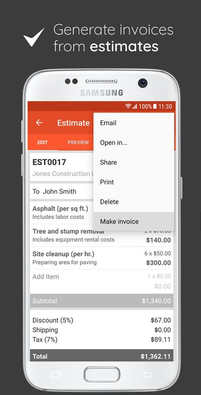 Invoice & Estimate on the Go 0.1.283 Screen 6