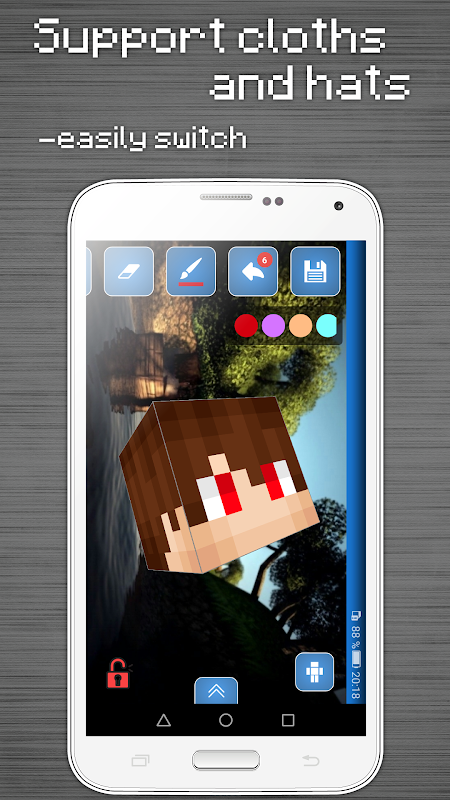 Skins Editor for Minecraft PE (3D) 3.9.7 Screen 4