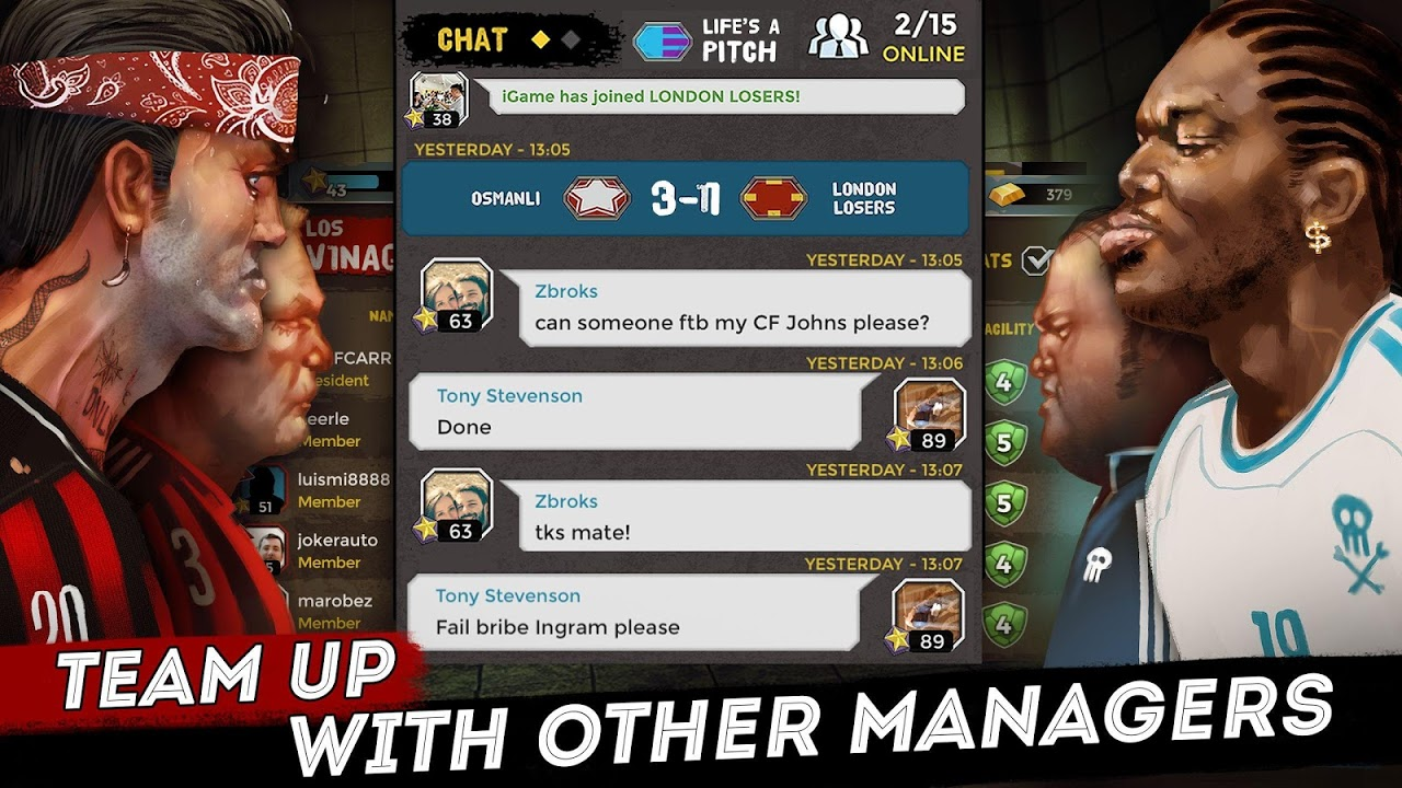 Android Underworld Football Manager - Bribe, Attack, Steal Screen 3