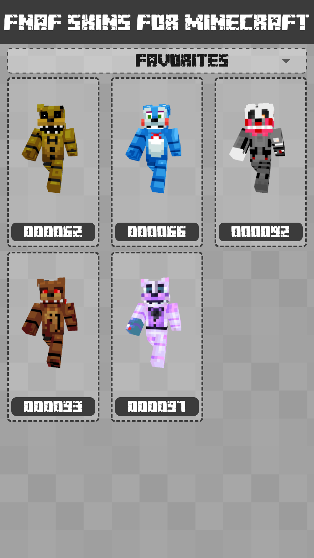 Android FNAF Skins for Minecraft PE Screen 3