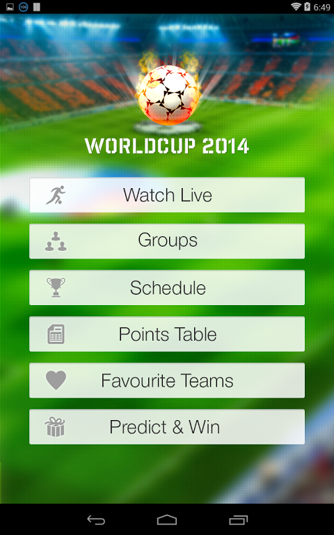 Live Football World Cup 2014 1.0 Screen 1