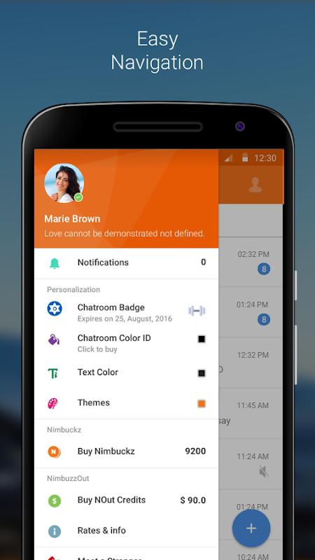 Nimbuzz Messenger / Free Calls 6.0.0 Screen 2