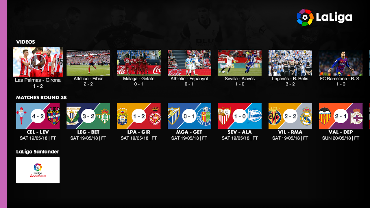 Android La Liga - Official App Screen 1