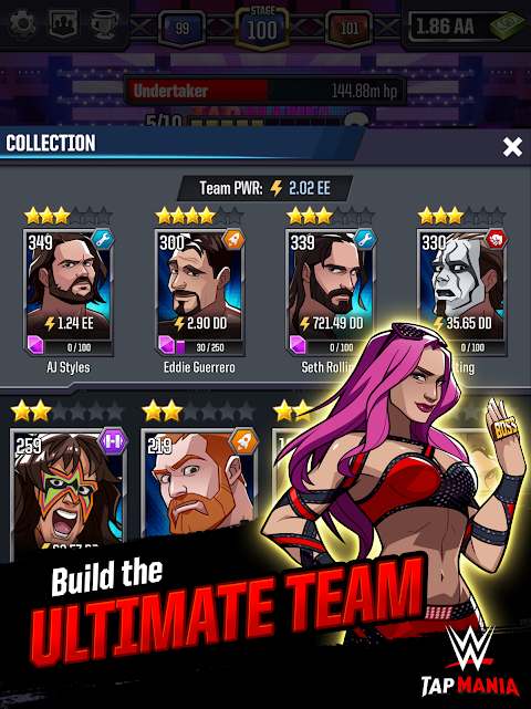 Android WWE Tap Mania Screen 7
