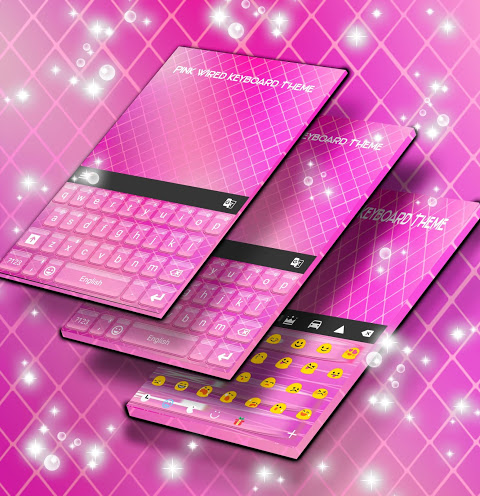 Android Pink Wired Keyboard Theme Screen 1