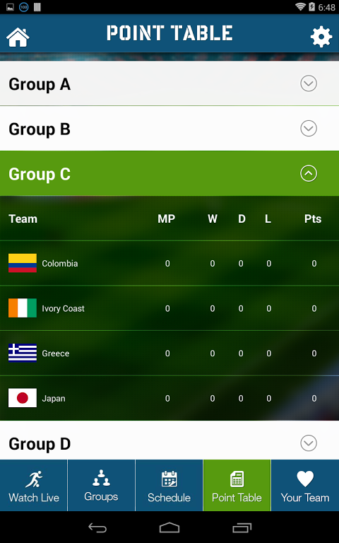 Live Football World Cup 2014 1.0 Screen 7