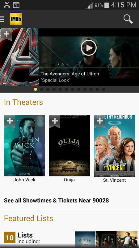Android IMDb Movies & TV Screen 9