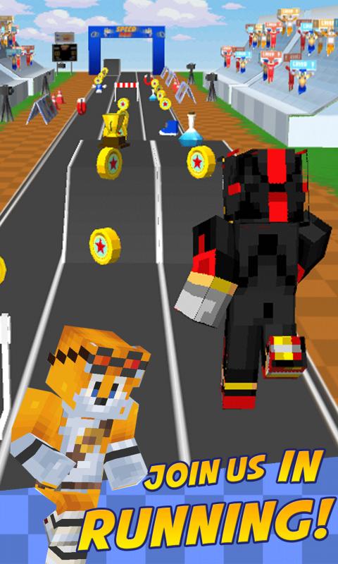 Android Hero Run Sonic the Hedgehog Running Adventure Maps Blocks Screen 1