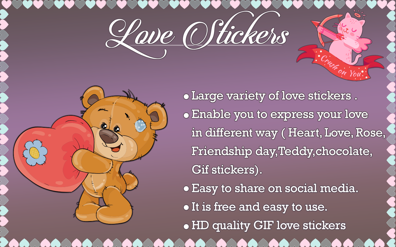 Android Love Stickers - Romantic Stickers For Whatsapp Screen 8