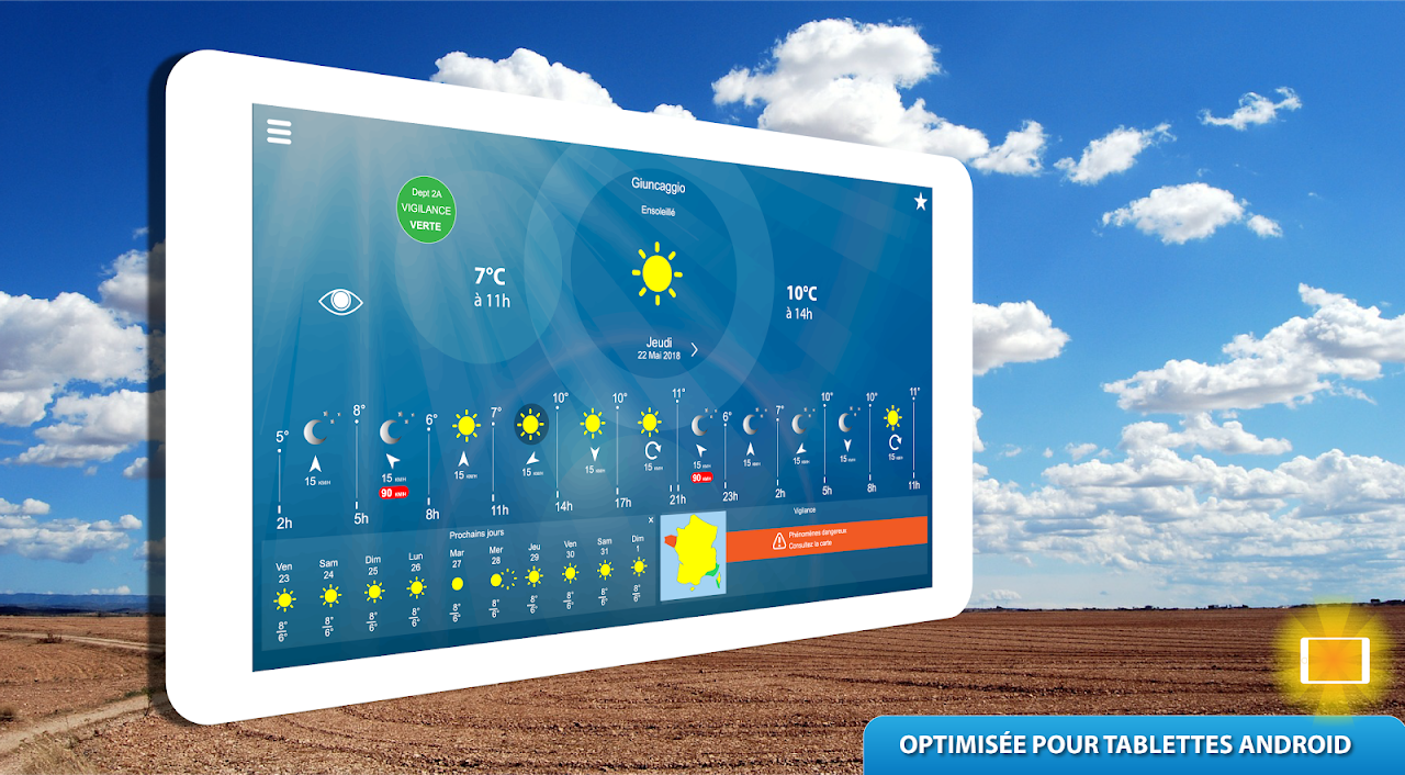 Android METEO FRANCE Screen 9