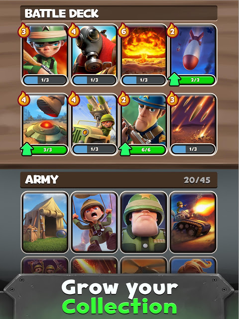 Android War Heroes: Clash in a Free Strategy Card Game Screen 2