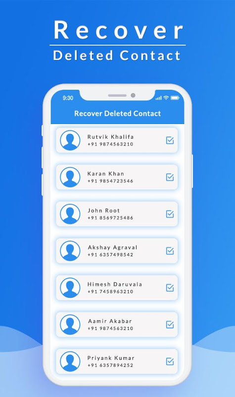 Recover All Deleted Contacts 1.1 Screen 1
