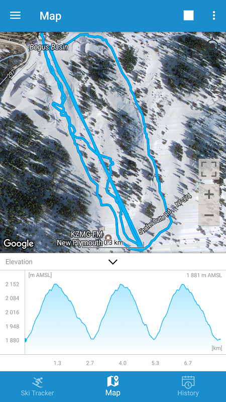 Android Snow Tracker Screen 4
