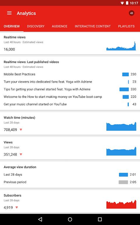 YouTube Studio 18.48.100 Screen 15