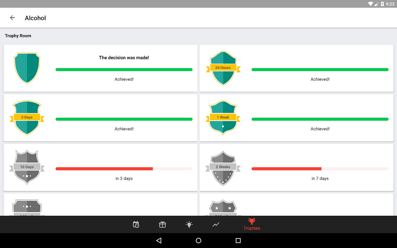 Android Sobriety Counter – Bad Habits Screen 6