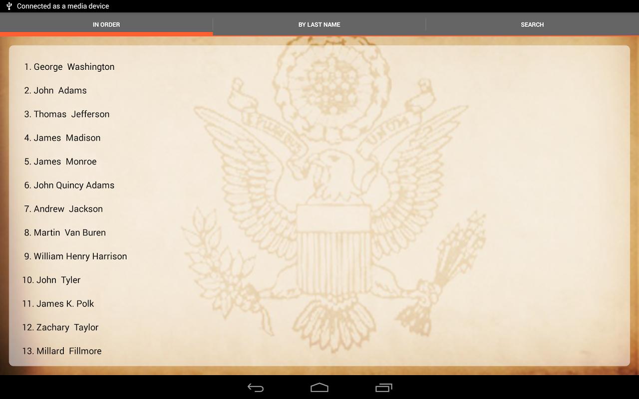 U.S. Presidents 1.8.1 Screen 4