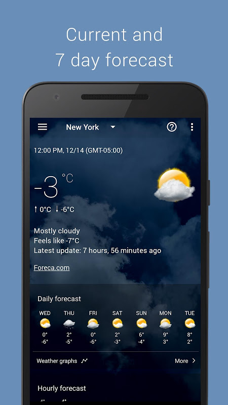 Android Transparent clock weather Pro Screen 7