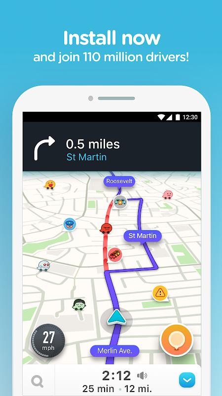 Waze - GPS, Maps, Traffic Alerts & Sat Nav 4.48.0.4 Screen 7
