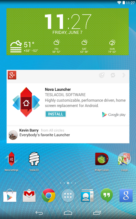 Nova Launcher 4.3.1 Screen 2