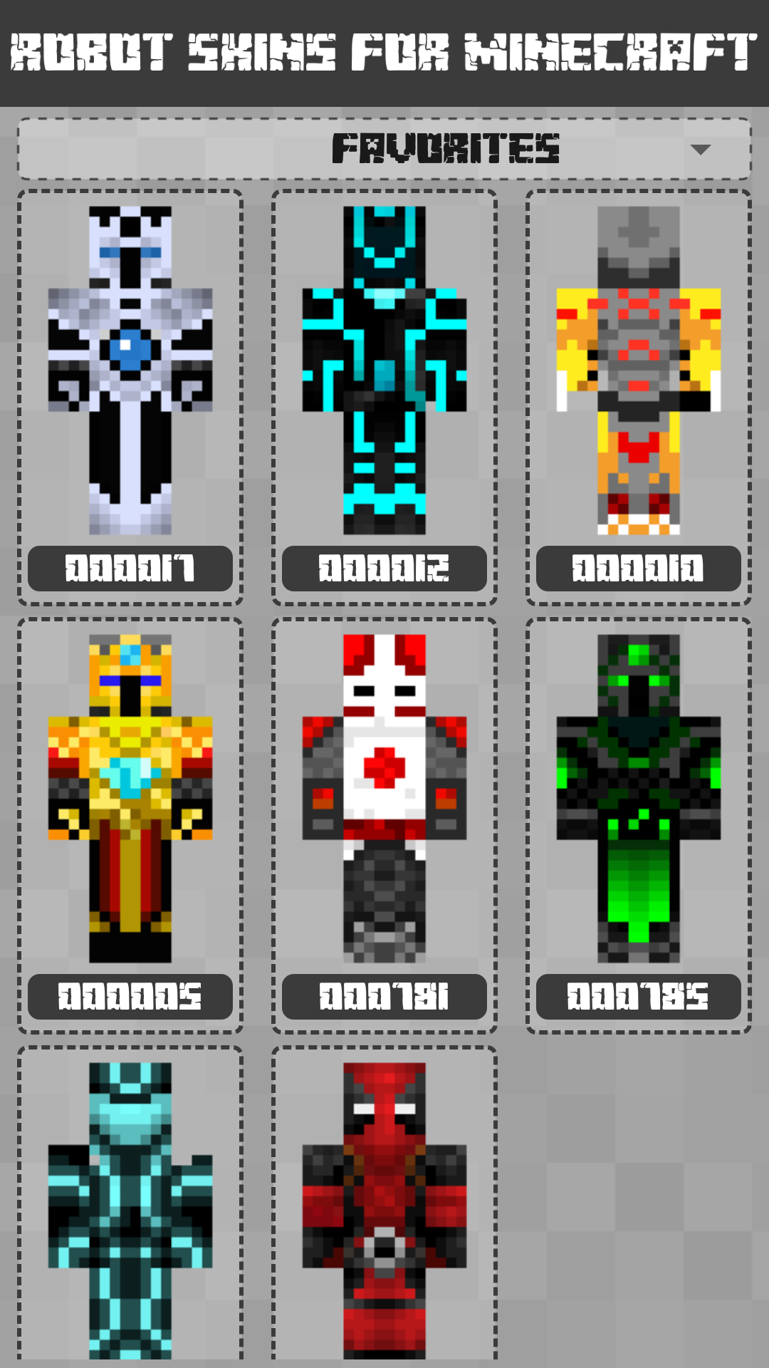 Android Robot Skins for Minecraft PE Screen 3