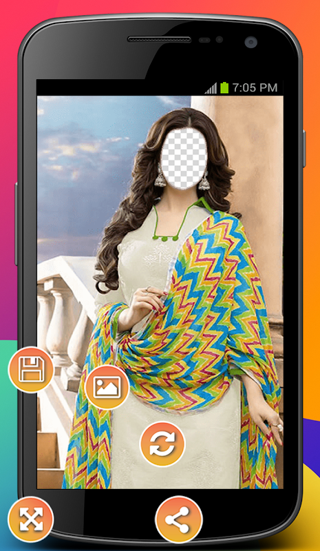 Android Dopatta Dress Photo Montage Screen 1
