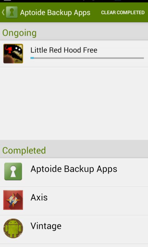 Aptoide Backup Apps 2.4.0 Screen 5