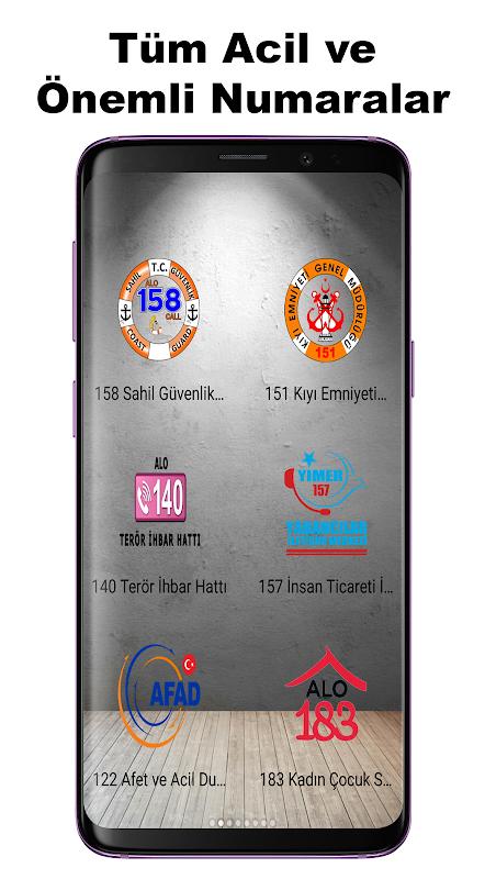 Android Acil Önemli Numaralar Screen 4