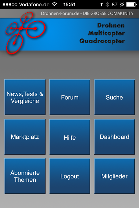 Android Drohnen-Forum Screen 2