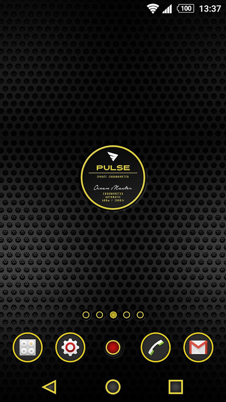 Android XPERIA™ Pulse Chrono Theme Screen 2