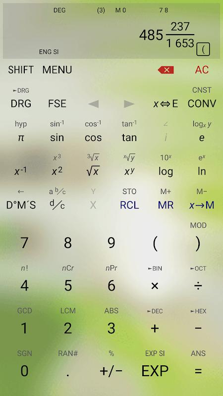 HiPER Scientific Calculator 6.1 Screen 4