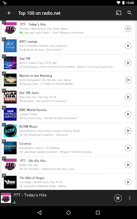 Android radio.net - Tune in to more than 30,000 stations Screen 11
