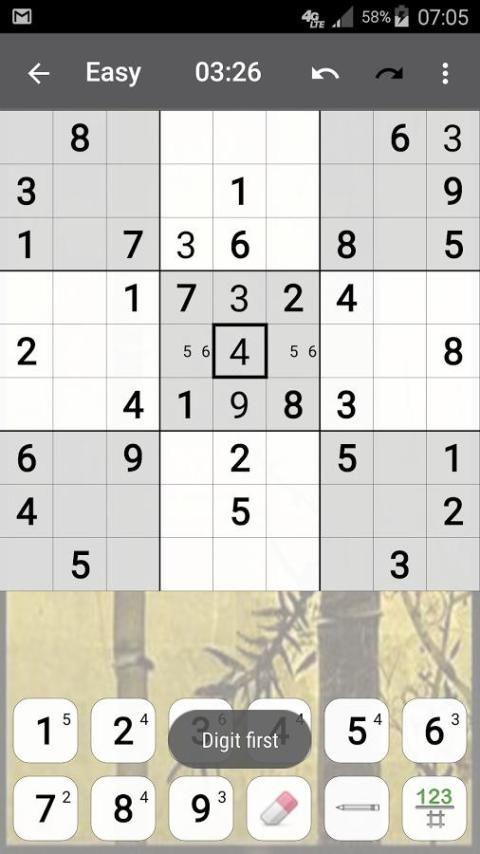 Sudoku 10.2.5.g Screen 2