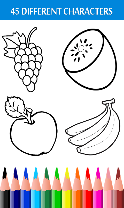 Android Fruits Coloring Book & Drawing Book Screen 2