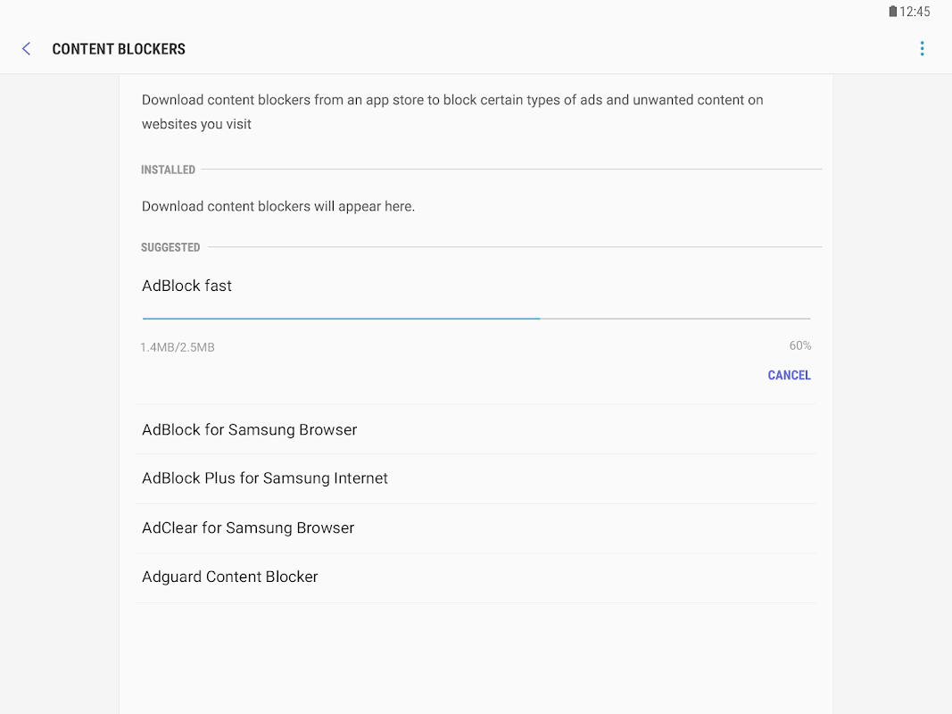 Samsung Internet Browser 9.0.01.48 Screen 3