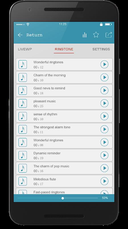 Android Super Popular Ringtone Ranking Screen 3