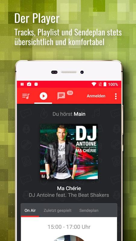 Android RauteMusik.FM Internet Radio Screen 1
