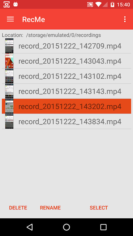 Android RecMe Free Screen Recorder Screen 1