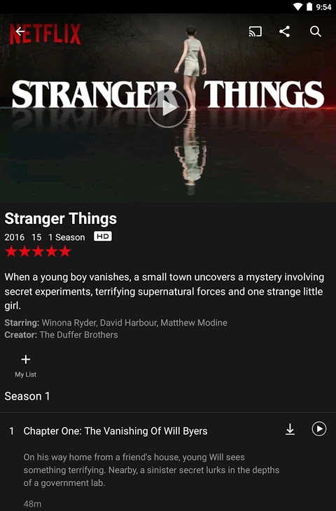Android Netflix Screen 10