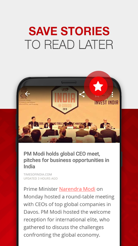 Android News by The Times of India Newspaper Screen 2