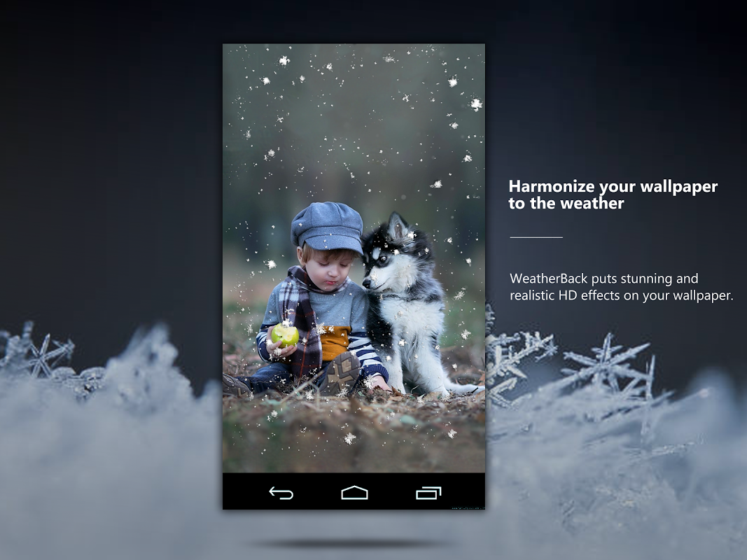 Android Weather: Weatherback, Effects on your homescreen Screen 8