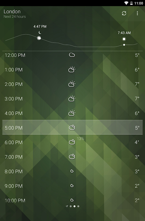 Android Weather Screen 10