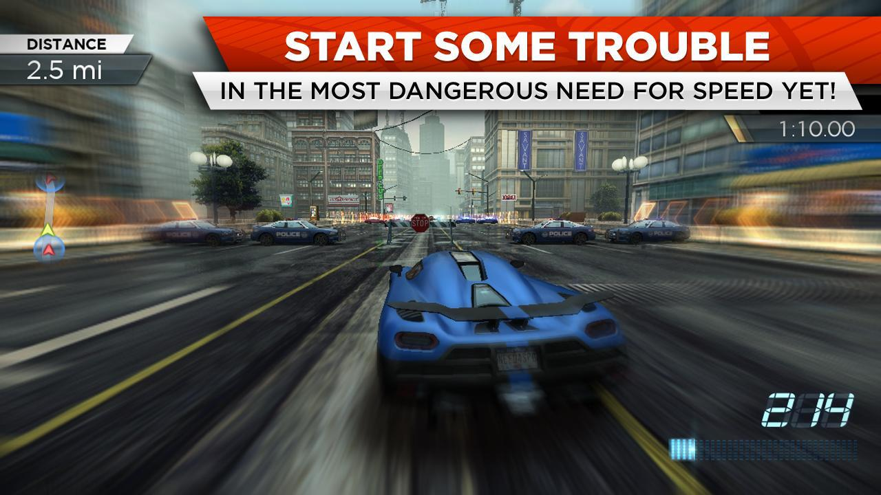 Android NFS Most Wanted Screen 1