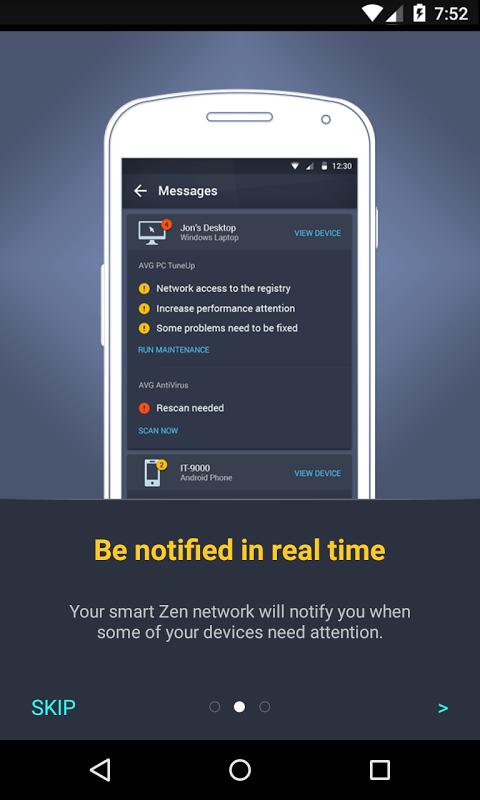 Android AVG?Zen Screen 1