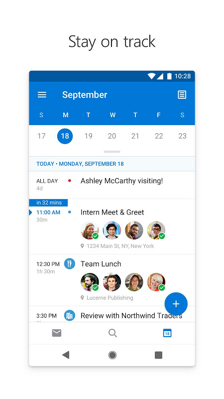Android Microsoft Outlook Screen 4