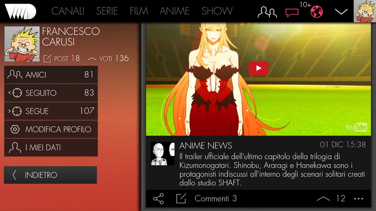VVVVID 5.2.2 Screen 3