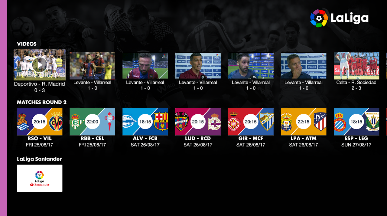 Android La Liga - Official App Screen 6