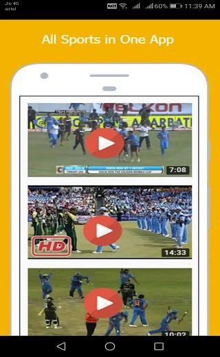 Android Sports Live TV,Football Live TV,Cricket Live TV HD Screen 2