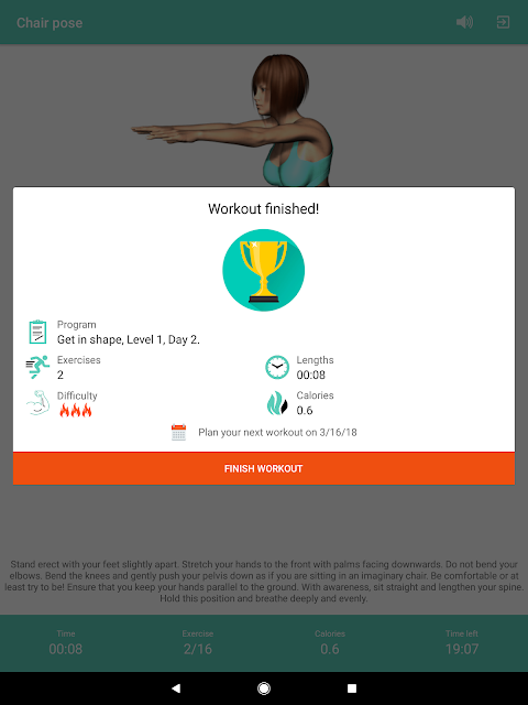 Android Yoga for weight loss -lose weight programat home Screen 8